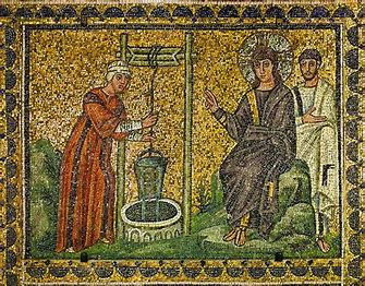 Samaritain well mosaic